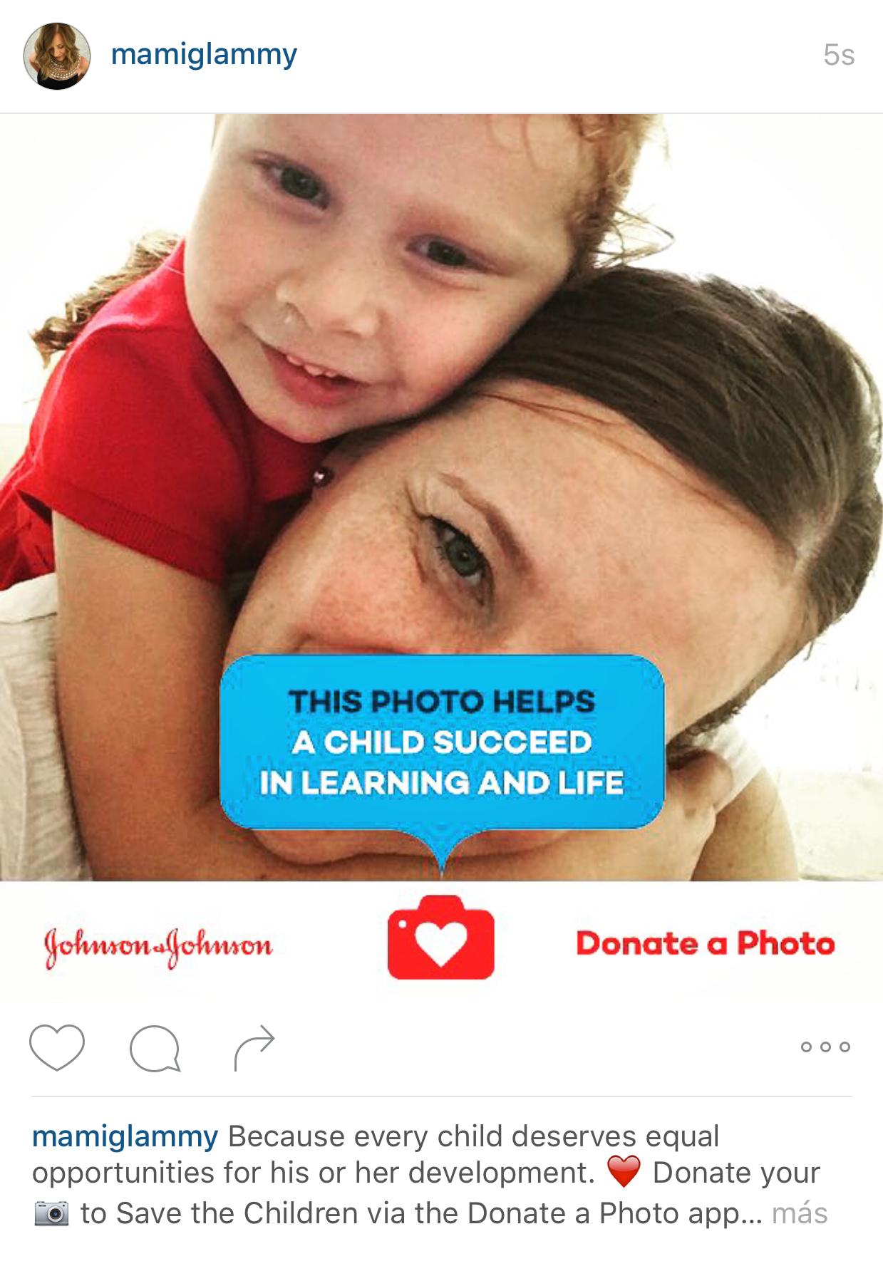 Salva a un niño donando una foto con Johnson's Save the Children